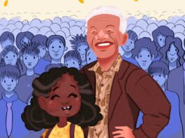 detail from bookcopver with Nelson Mandela image