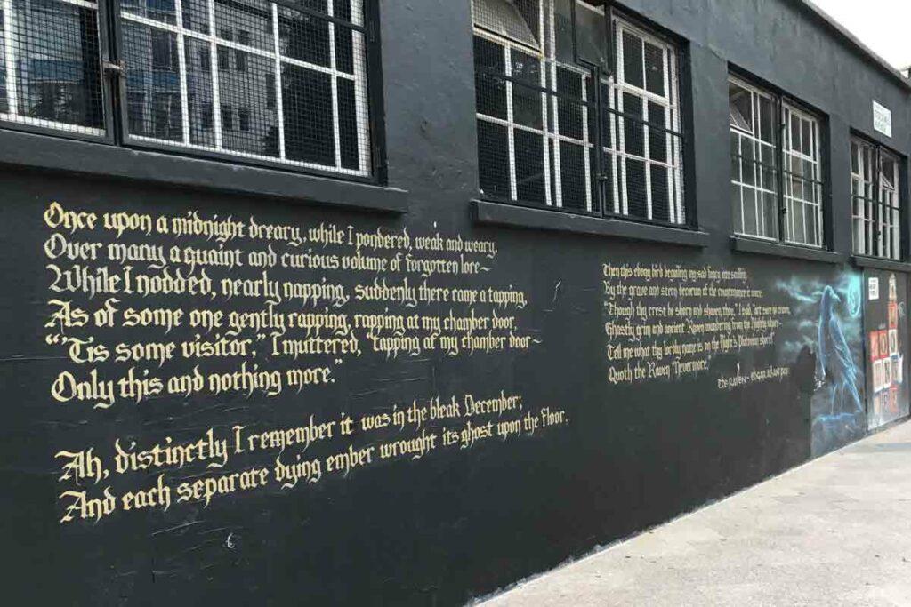 poem written on external wall