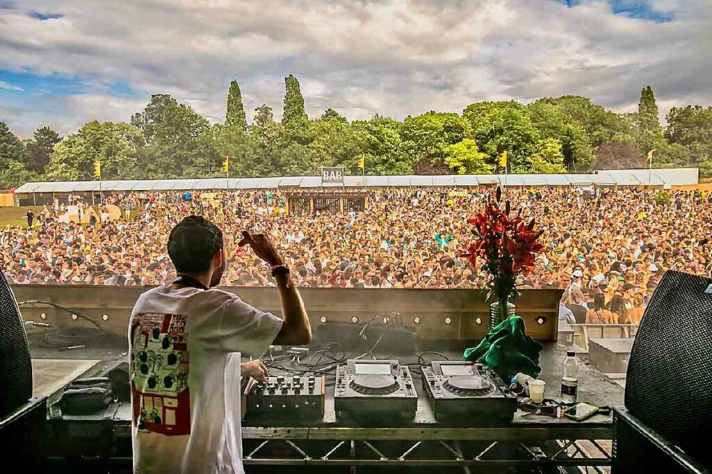 festival scene from DJ booth