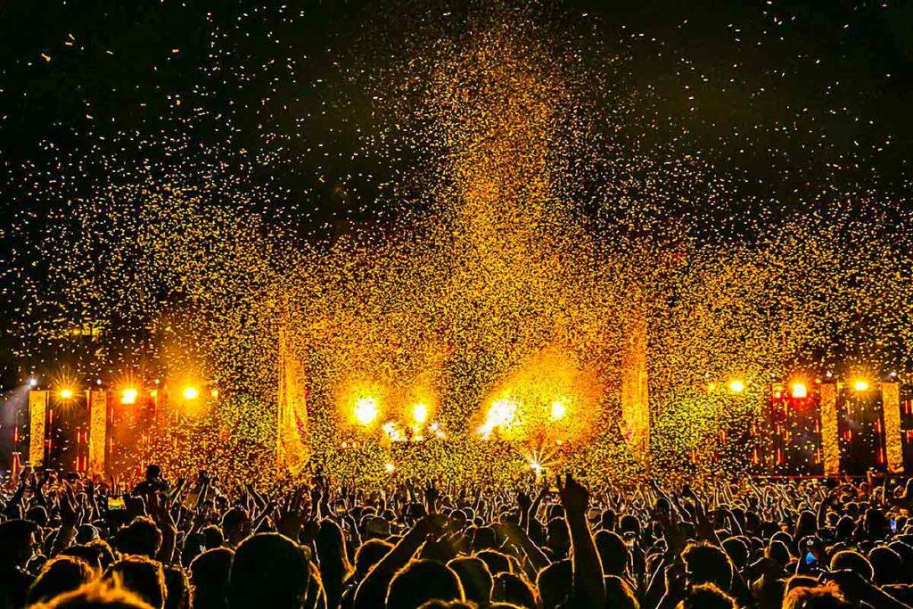 night festival scene