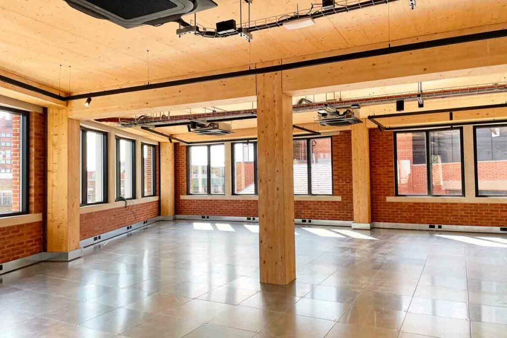 empty modern office floor