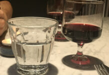 wine and water glasses