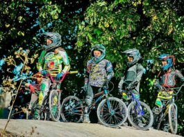 Young BMX riders