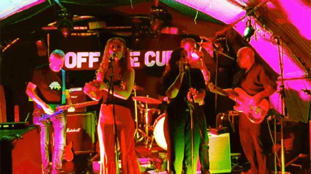 rock band in cellar type club