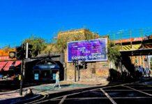 Billboard in urban setting